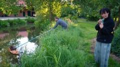 Jens und Dietlind am Teich